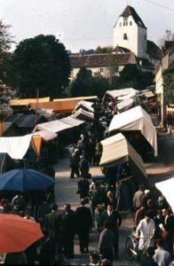 Markttag in Weiz in den 1970ern