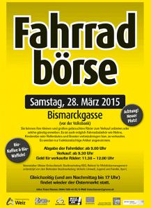 Plakat Fahrradbörse 2015