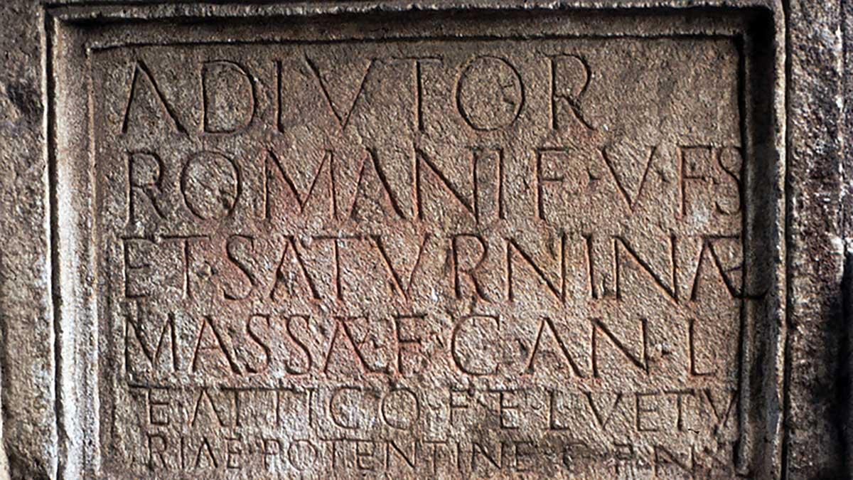 Römischer Grabstein Titulus
