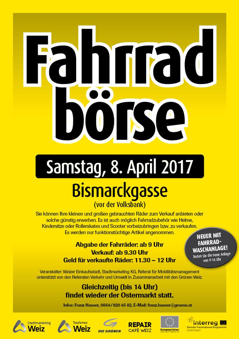 Plakat Fahrradboerse 2017